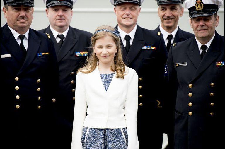 La princesse baptise son premier navire