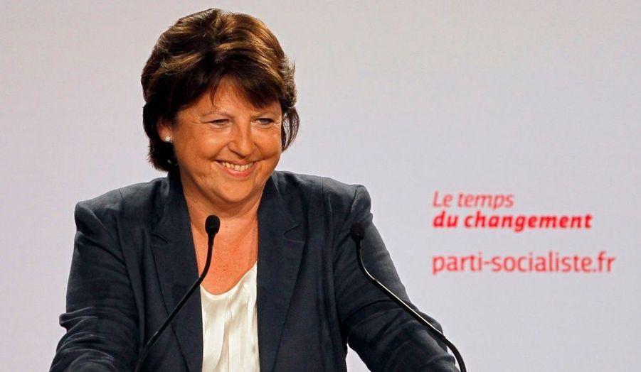 Martine Aubry était émue lors de son discours de clôture de l'université d'été de La Rochelle dimanche, au terme de cestrois jours.