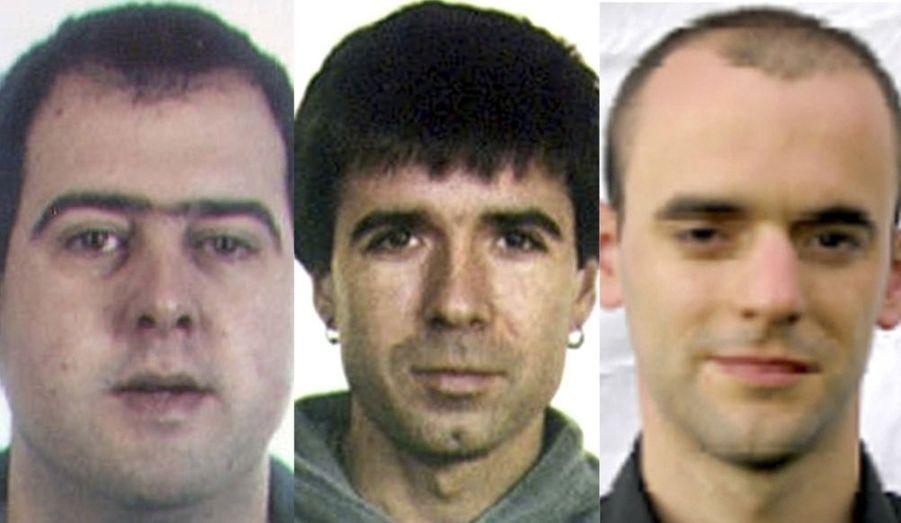 Voici les trois membres présumés de l'organisation séparatiste basque ETA arrêtés par la police française dans la station du Corbier, près de Saint-Jean-de-Maurienne, en Savoie, selon la presse espagnole. Le site internet du quotidien El Mundo précise que deux des personnes arrêtées figurent sur la liste des suspects les plus recherchés par les autorités de Madrid, liste publiée après l'attentat à la bombe qui a tué deux policiers à Majorque le 30 juillet.