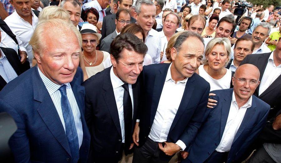 """Brice Hortefeux, Christian Estrosi, Jean-Francois Copéet Eric Ciotti étaient réunis samedi à Nice au deuxième jour durassemblement de l'association""""Les amis de Nicolas Sarkozy""""."""