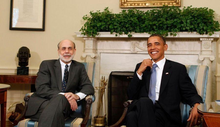 """Barack Obama a rencontré mardi Ben Bernanke, Président de la Réserve Fédérale des Etats-Unis. Il a assuré que la reprise économique du pays était """"bien engagée"""""""