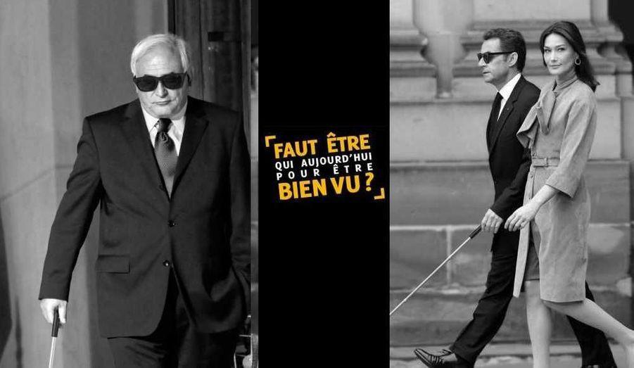 Dénonçant la condition des personnes souffrant de déficience visuelle en France, la Fédération des Aveugles de France (FAF) lance une campagne coup de poing dans laquelle elle détourne l'image de diverses personnalités publiques qui y apparaissent en aveugles.