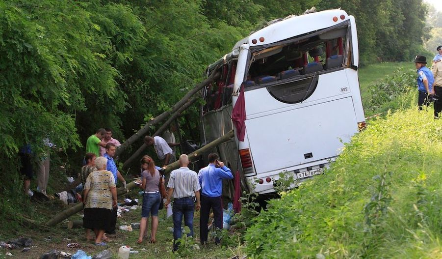 Un accident d'autocar survenu samedi matin dans le nord de l'Ukraine a fait 14 morts, probablement des Russes, et 22 blessés, a annoncé le ministère des Situations d'urgence. Le véhicule, avec 41 personnes à bord, est sorti de la route à 05h30 (02h30 GMT) près de la ville de Tchernigov avant d'effectuer un tonneau.