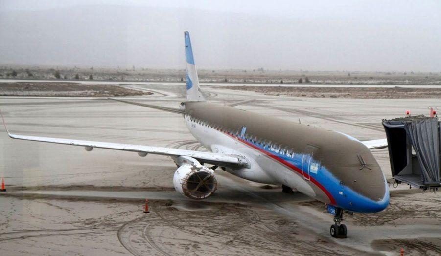 L'aéroport de Bariloche (Argentine) est paralysé.