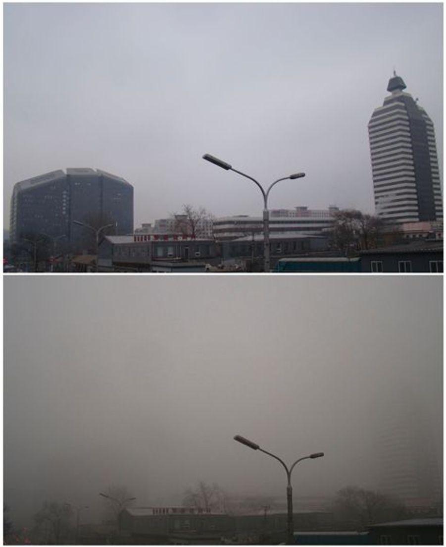 Avant après à Pékin