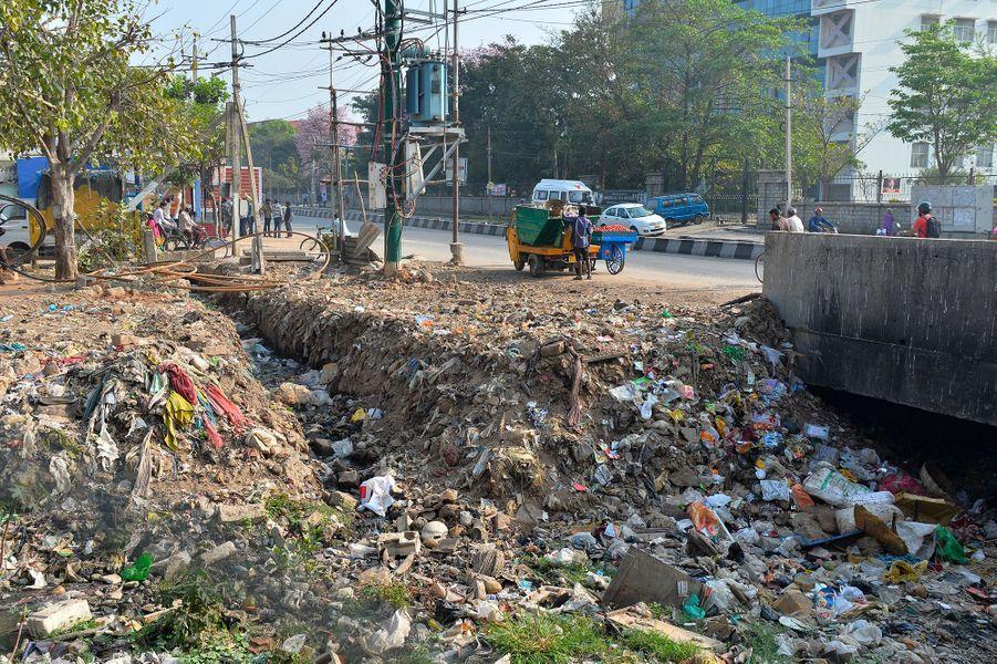 Des ordures à Bangalore