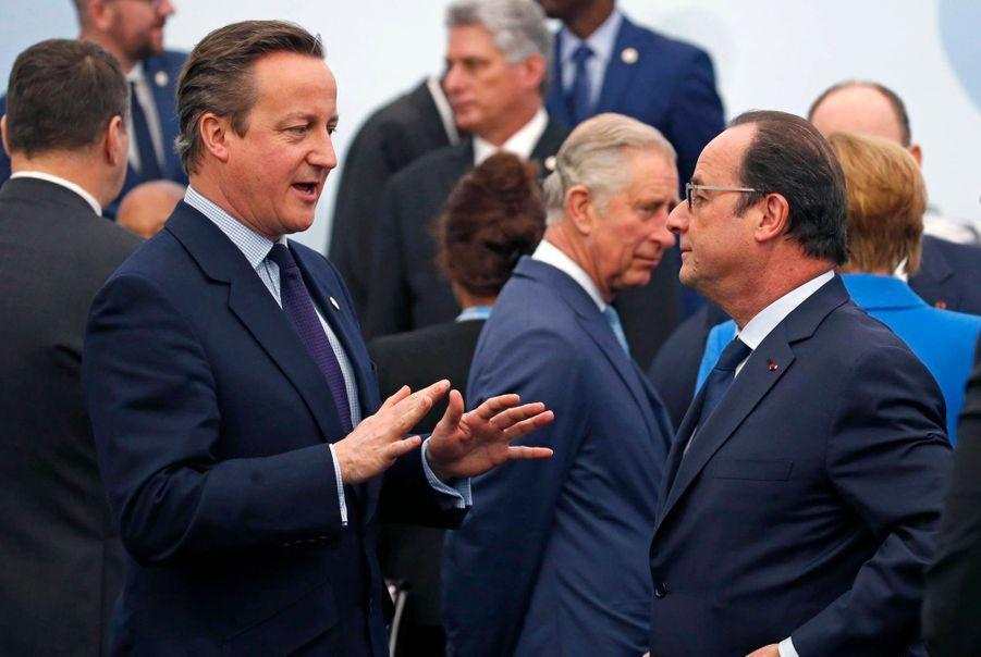 David Cameron et François Hollande