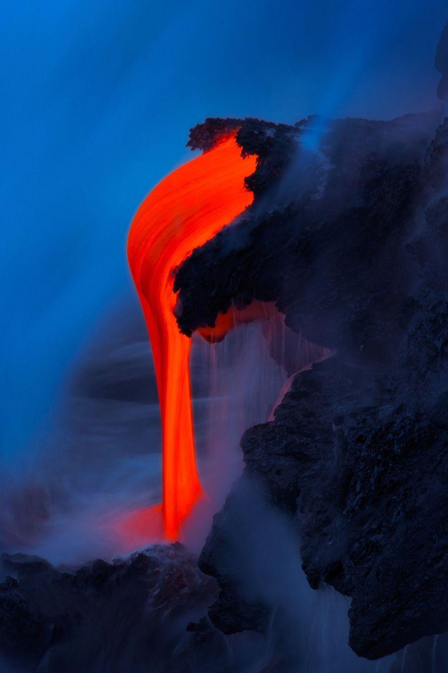 L'activité du volcan Kilauea, photographié fin 2016