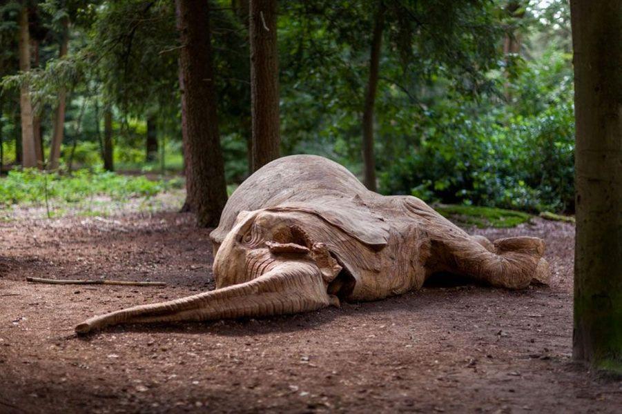 L'éléphant mort de l'artiste Kevin Van Braak