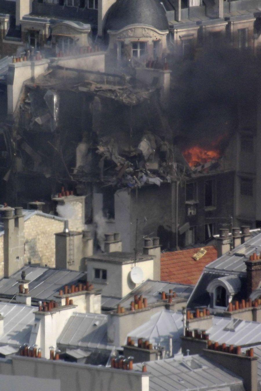 Explosion due au gaz à Paris, 17 blessés