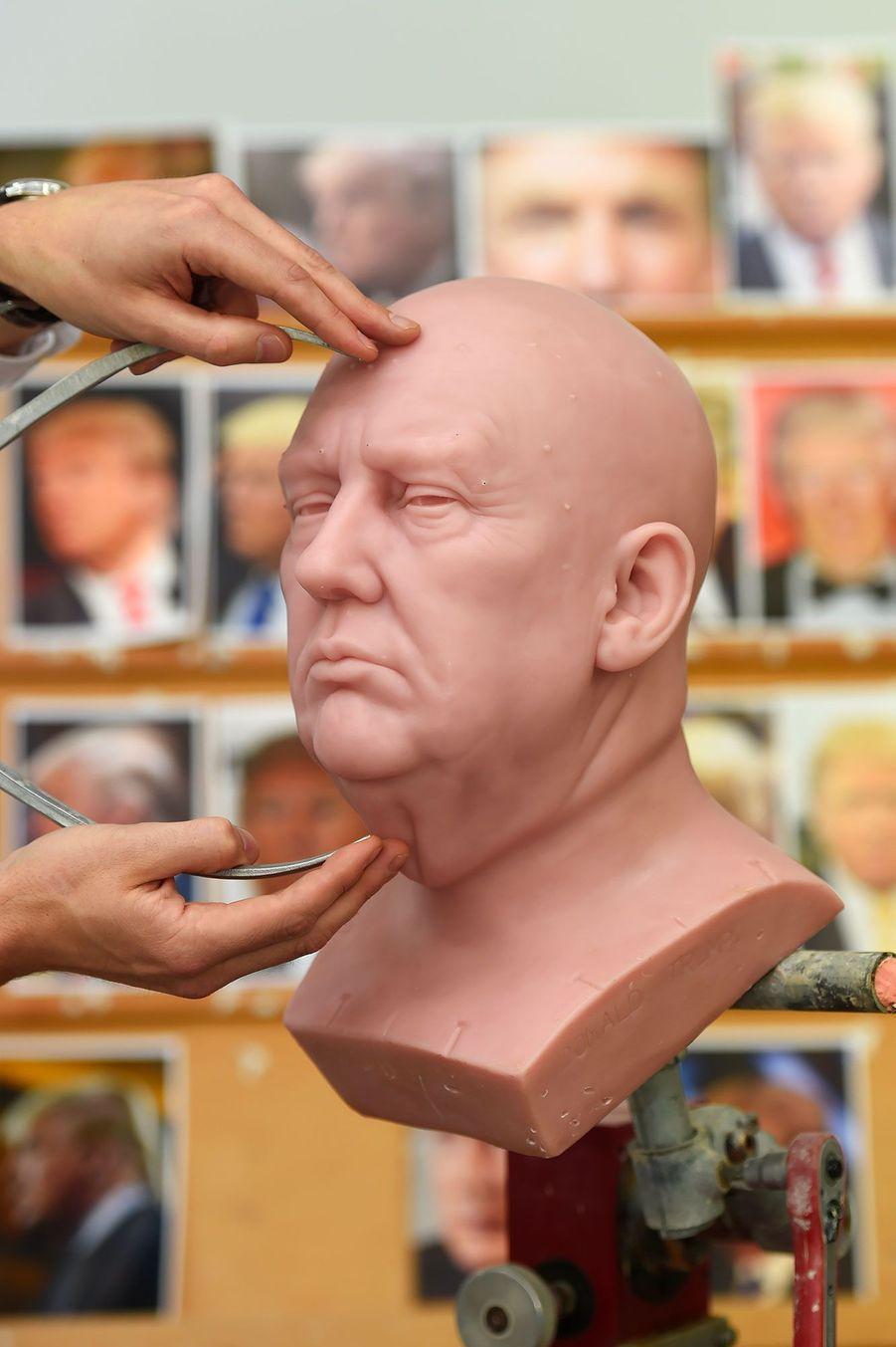 Le portrait en cire de Donald Trump, qui sera exposé au Madame Tussauds de Londres
