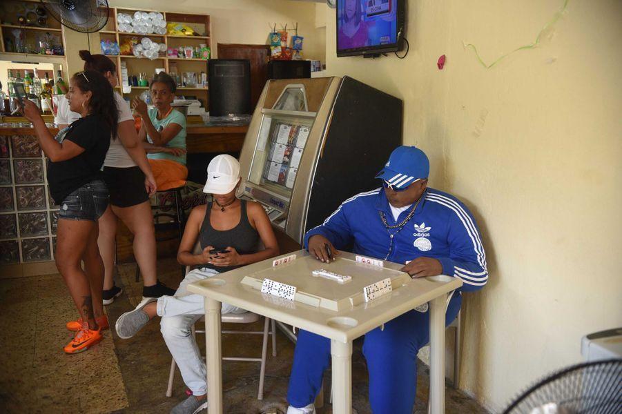 Jomar Aguayo Collazo, décédé la semaine dernière, a été disposé comme s'il jouait aux dominos