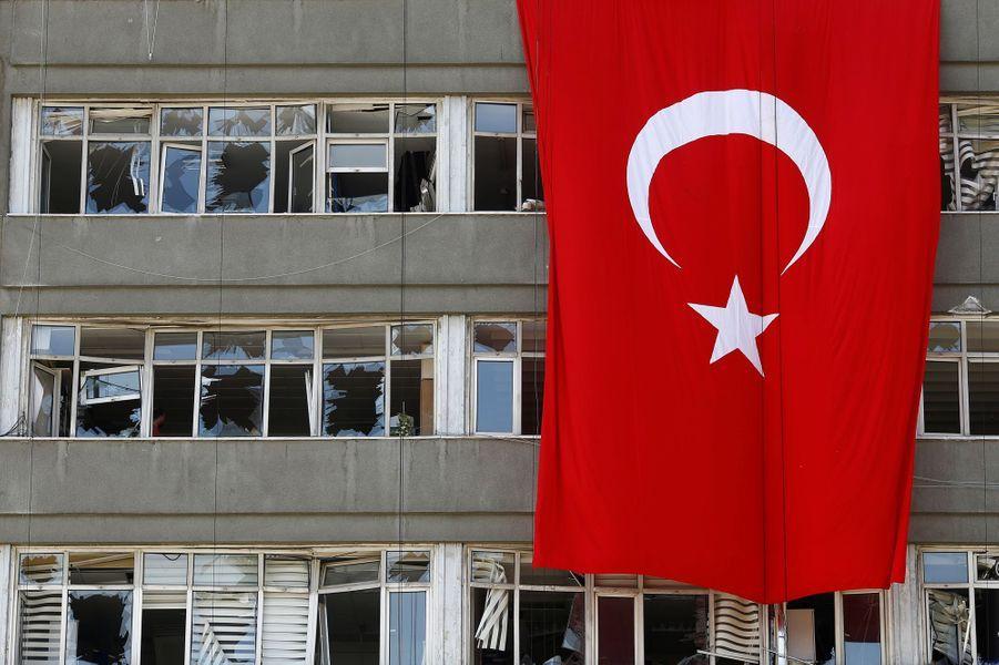 Les locaux de la police turque à Ankara.