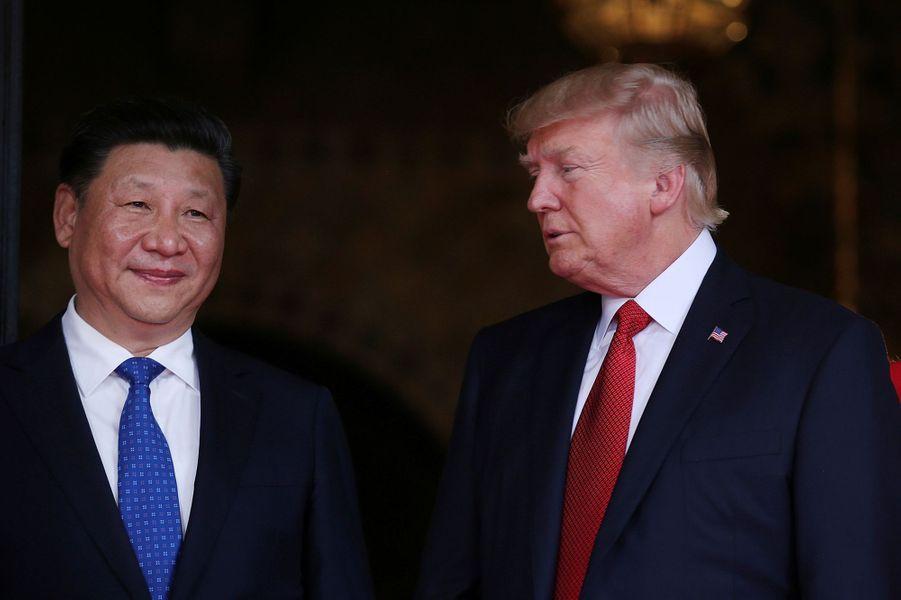Xi Jinping et Donald Trump à Mar-a-Lago, le 6 avril 2017.