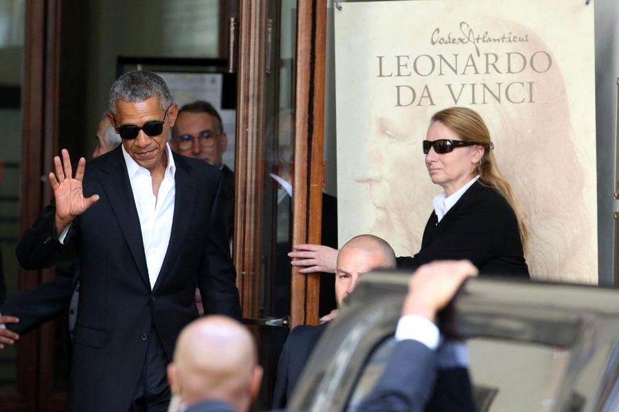 Barack Obama à Milan, le 8 mai 2017.