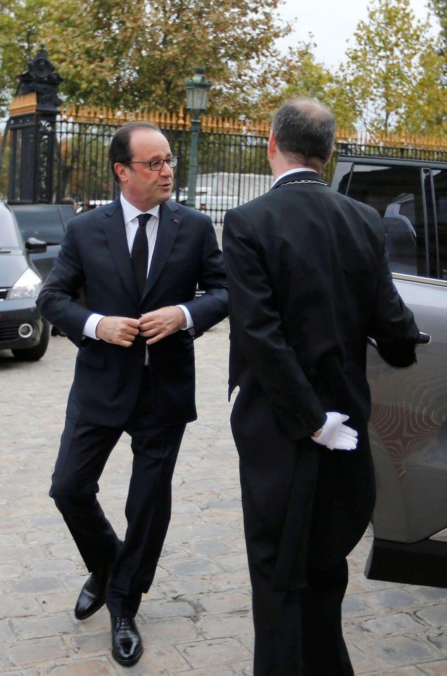 François Hollandeà Paris, à la réunion de haut niveau sur l'avenir politique de Mossoul, le 20 octobre 2016.