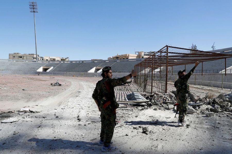 Célébrations à Raqqa, le 17 octobre 2017.
