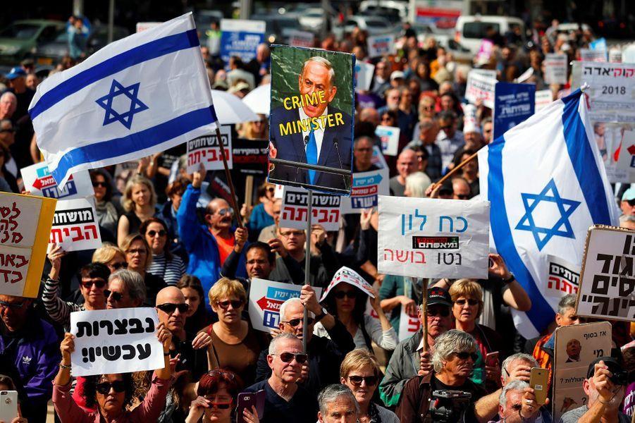 Manifestation à Tel-Aviv, le 16 février 2018.