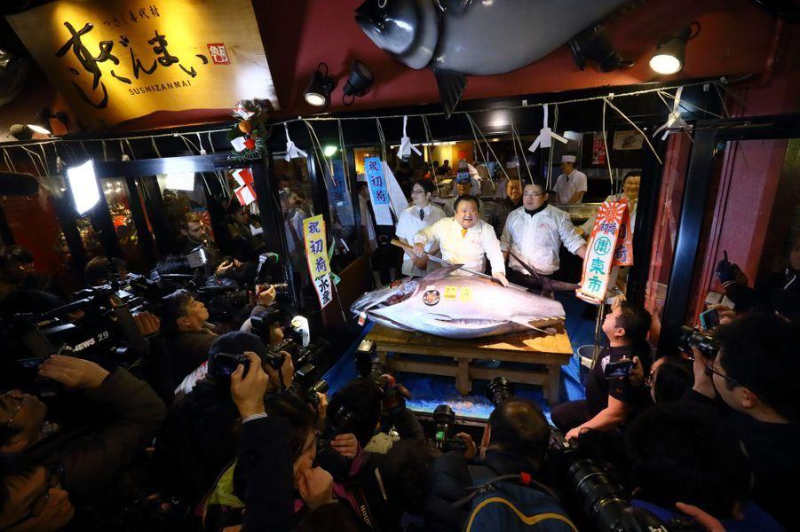 Le premierthonrouge de la criée de 2017 à Tokyo a été adjugé à 74,20 millions de yens, soit 605.000 euros.