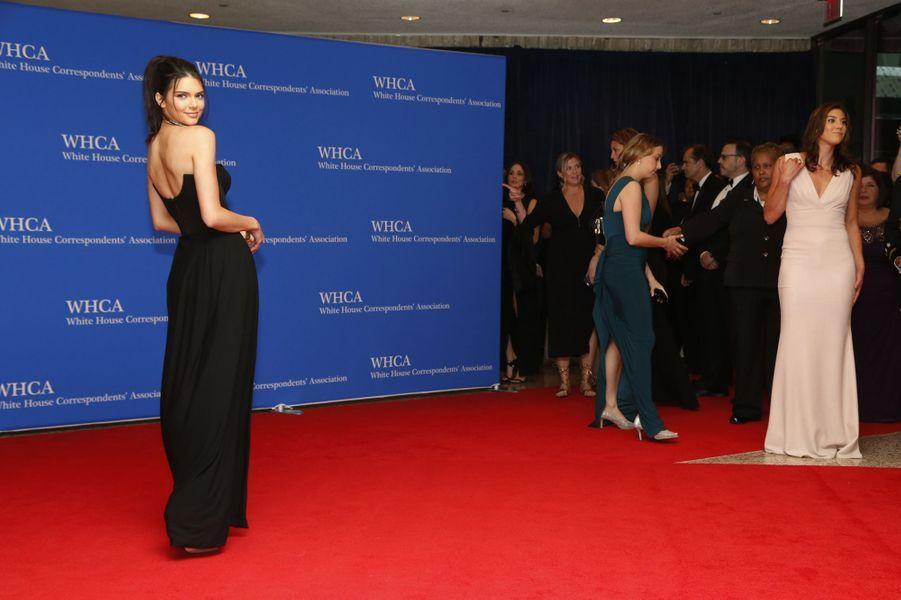 Kendall Jenner au dîner des Correspondants à la Maison Blanche, le 30 avril 2016 à Washington.