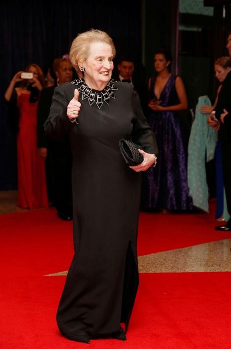 Madeleine Albright au dîner des Correspondants à la Maison Blanche, le 30 avril 2016 à Washington.