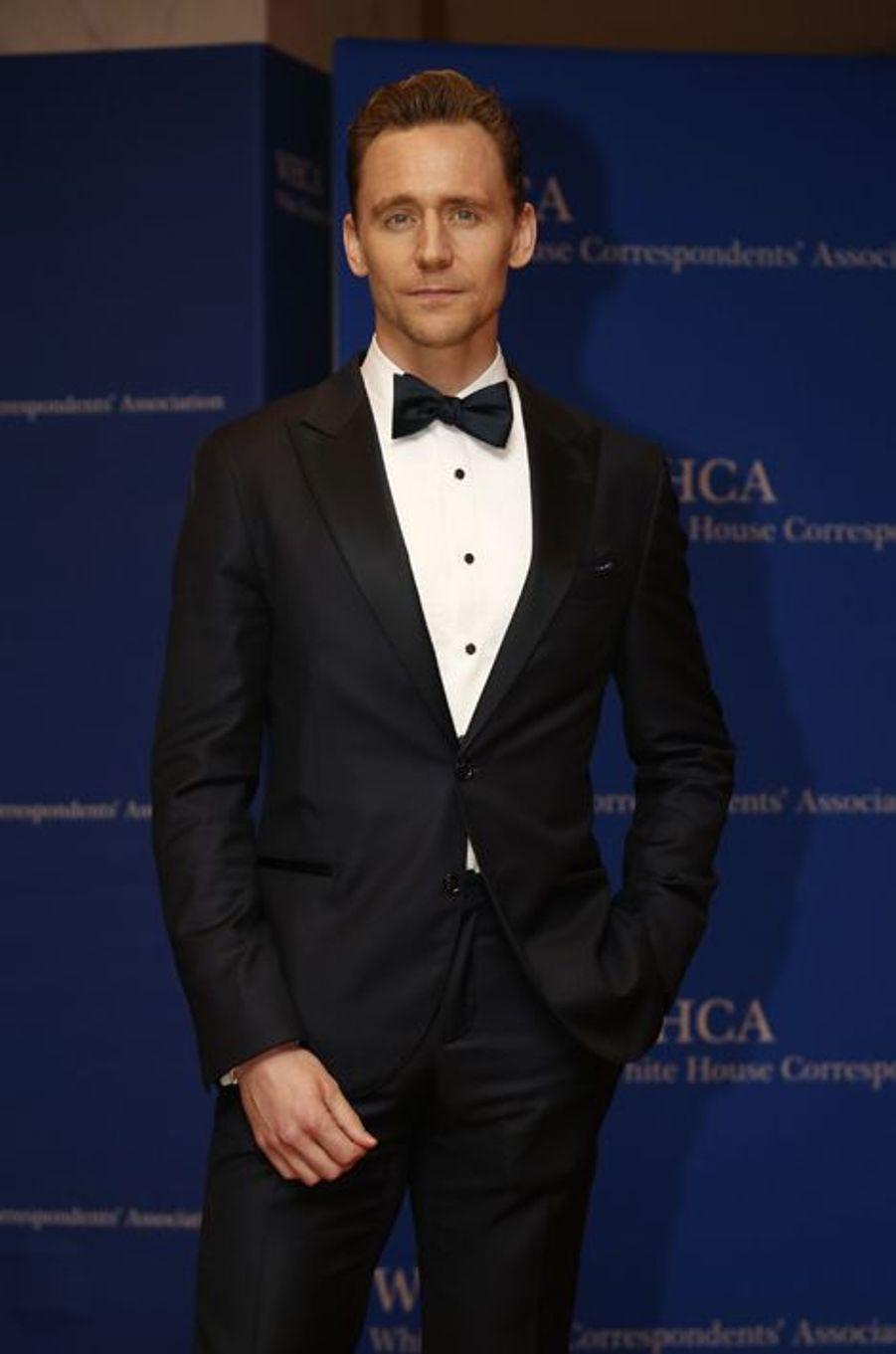 Tom Hiddleston au dîner des Correspondants à la Maison Blanche, le 30 avril 2016 à Washington.