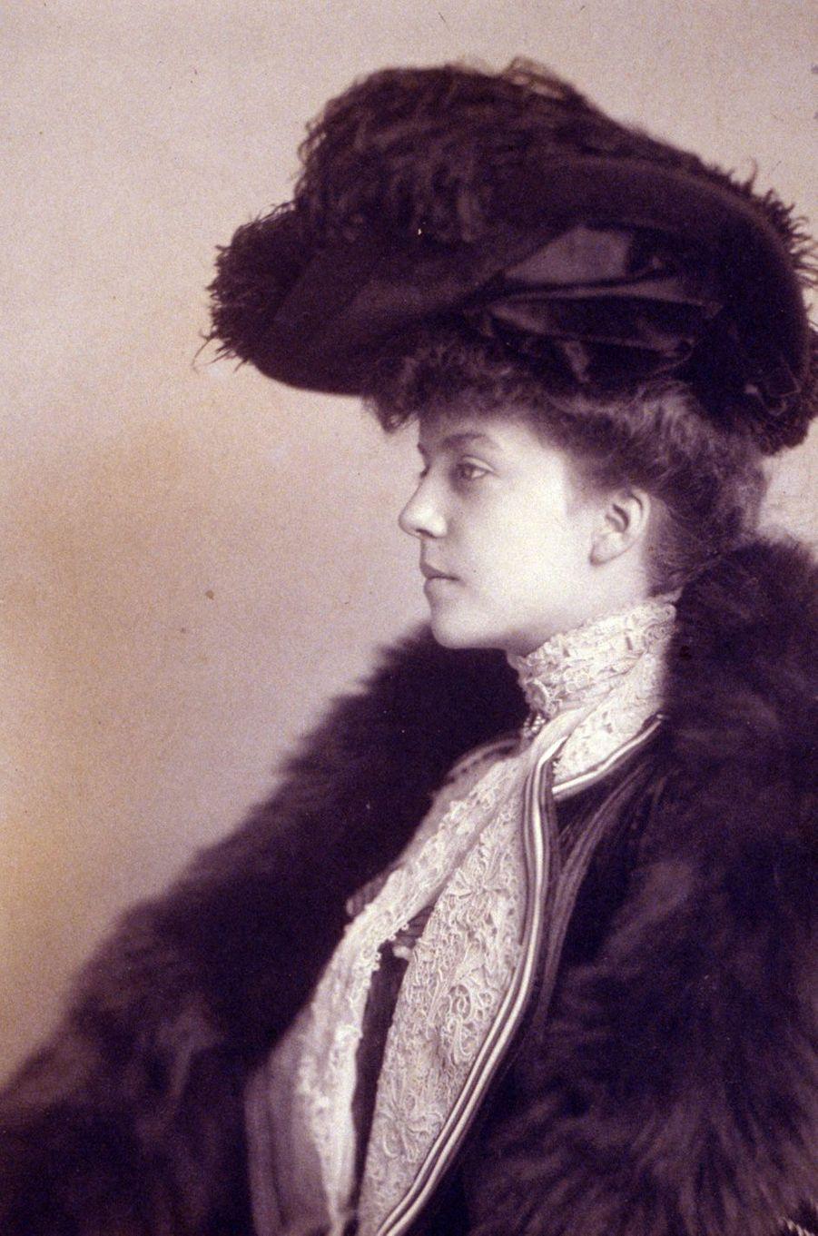 Alice Roosevelt, la fille du président Theodore Roosevelt, en 1901.
