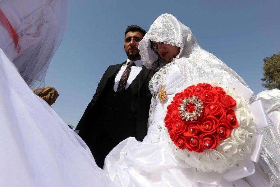 Mariage collectif à Erbil, en Irak, le 7 avril 2017.