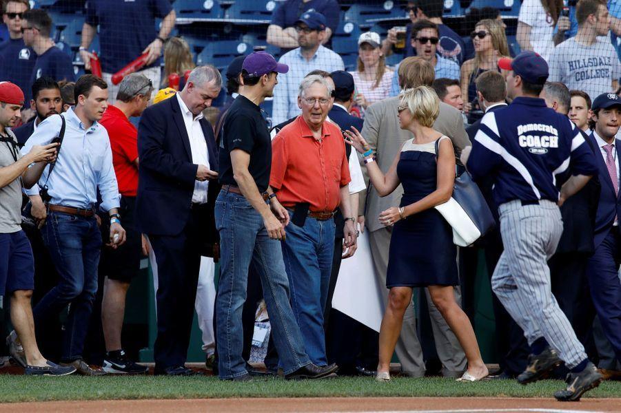 Le match de base-ball opposant les élus du Congrès américain a eu lieu jeudi 15 juin 2017.