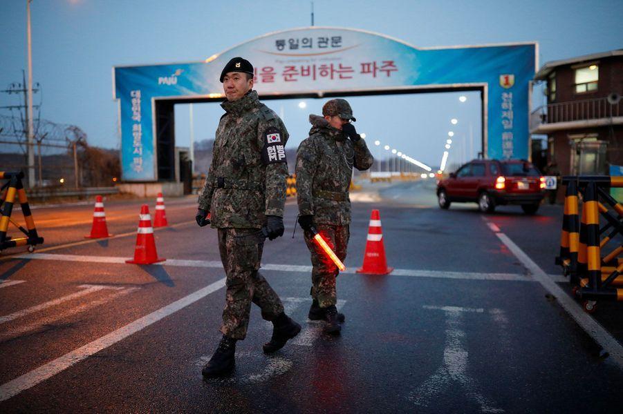 Les discussions entre représentants des deux Corées ont eu lieu mardi àPanmunjom.