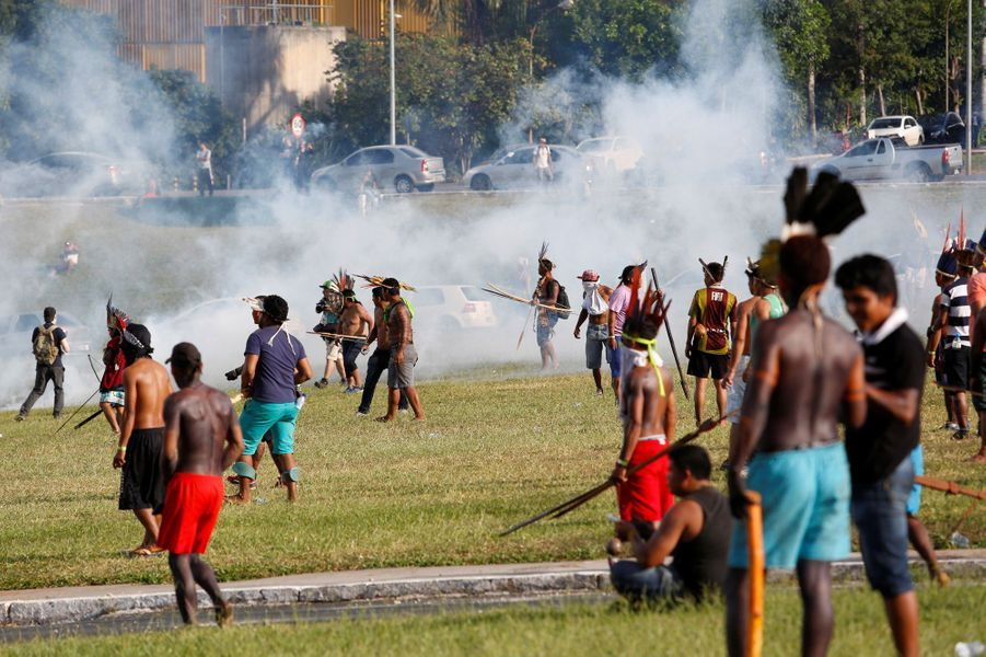 Une manifestation mardi a tourné à l'affrontement à Brasilia.