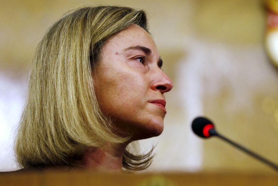 Attentats de Bruxelles. Les larmes de Federica Mogherini
