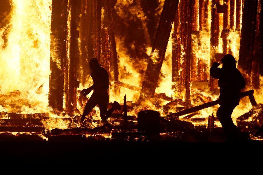 Un homme s'est tué au festival Burning Man, le 2 septembre 2017.
