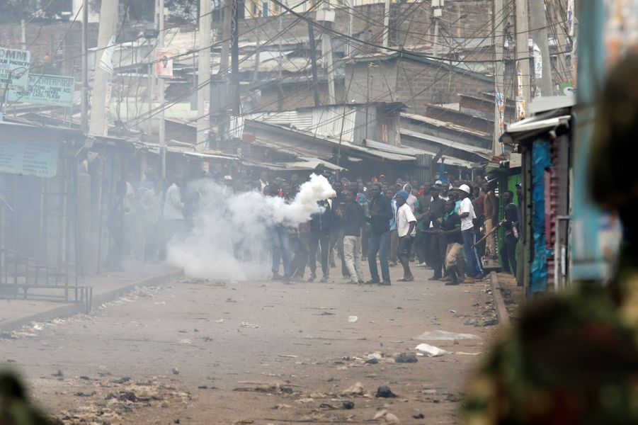 Violences à Nairobi, au Kenya, le 12 août 2017.