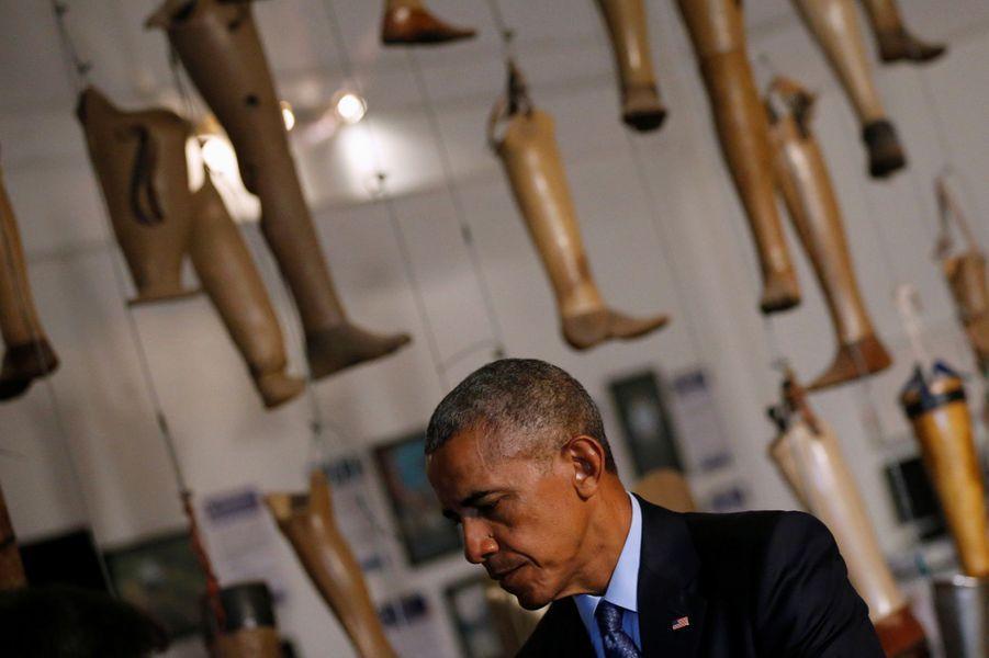 Barack Obama lors de sa visite au Laos, le 7 septembre.