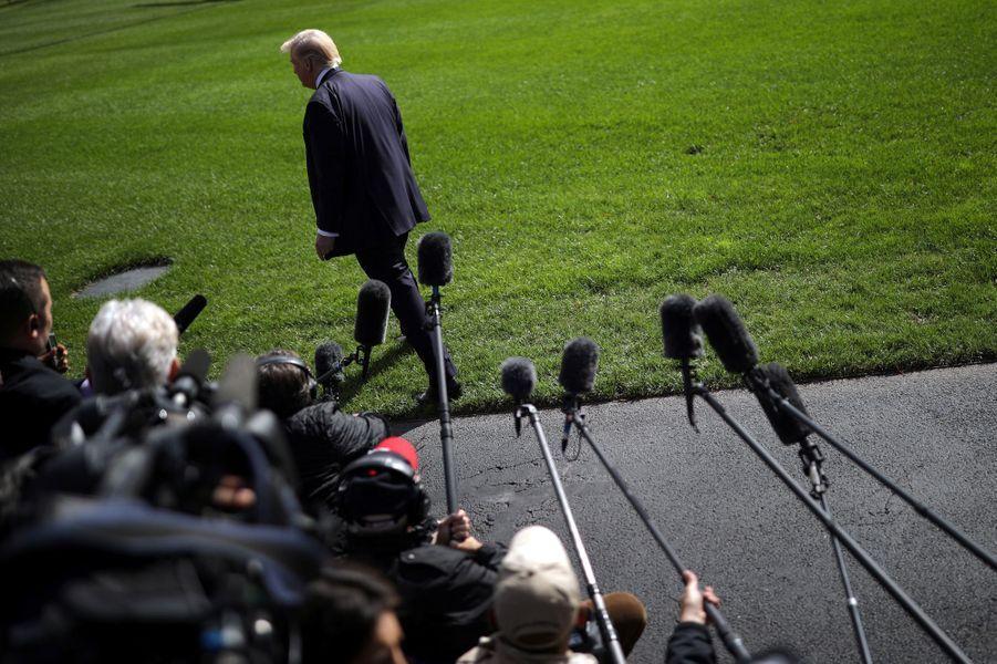Donald Trump à la Maison Blanche, le 25 octobre 2017.