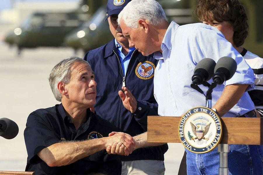 Le vice-président américain Mike Pence au Texas, le 31 août 2017.
