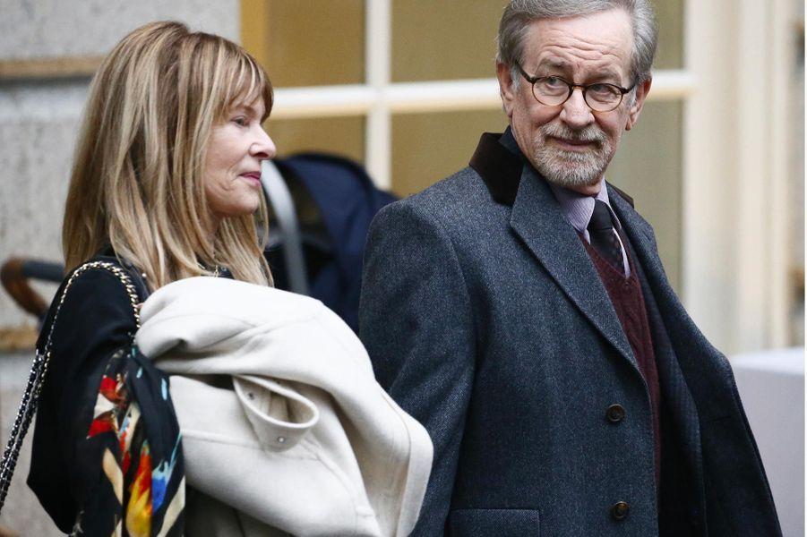Kate Capshaw et Steven Spielberg à Washington, le 12 février 2018.