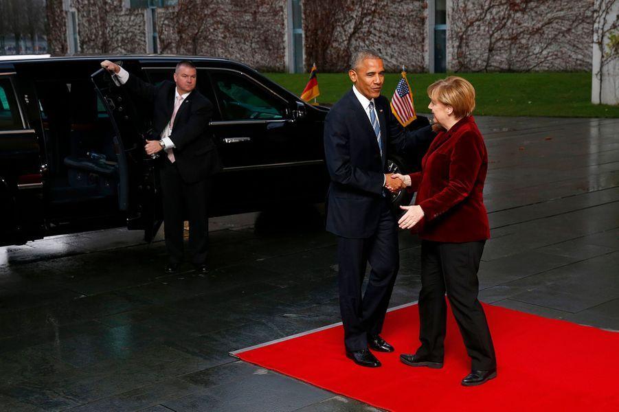 Barack Obama à l'arrivée du dîner d'Etat jeudi.