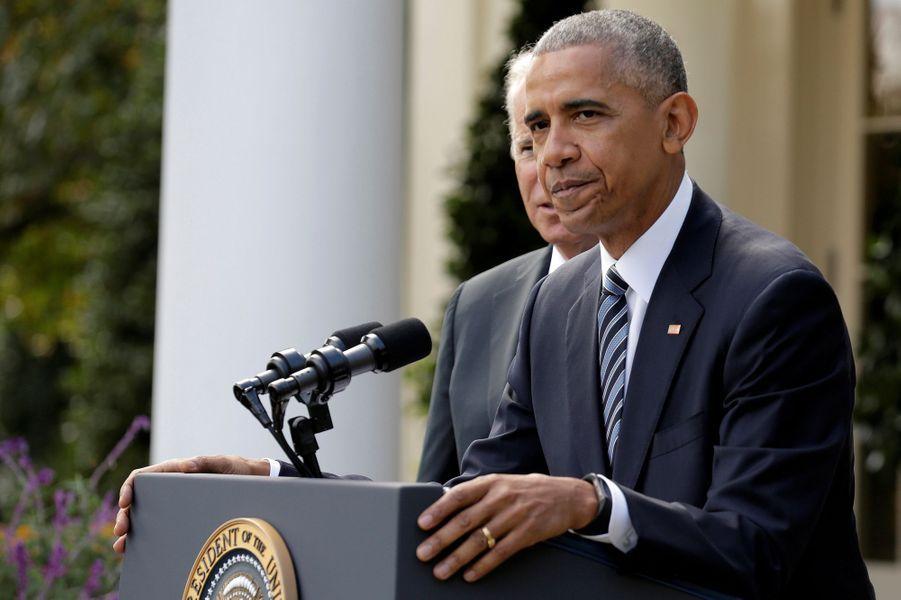 Discours de Barack Obama à la Maison Blanche après la victoire de Donald Trump, le 9 novembre 2016.