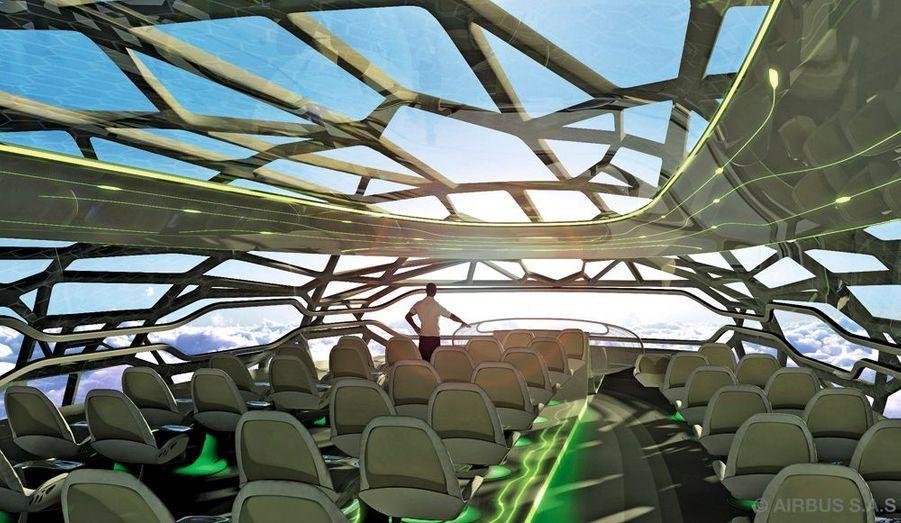 Cet Airbus offre une vue panoramique sur le cosmos.