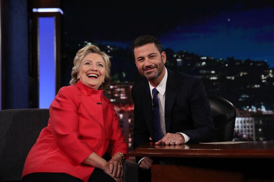 Hillary Clinton était l'invitée de Jimmy Kimmel lundi soir.
