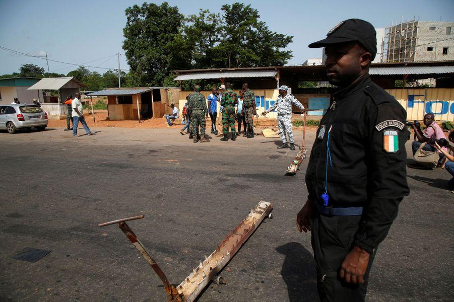 Fin de la mutinerie àBouaké, en Côte d'Ivoire, le 16 mai 2017.