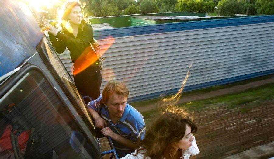 Le photographe de l'agence Reuters Thomas Peter avait croisé la route des activistes russes avant qu'elles ne deviennent les Pussy Riot. Sur ce premier cliché pris en 2008, on reconnait Yekaterina Samutsevich, à gauche.