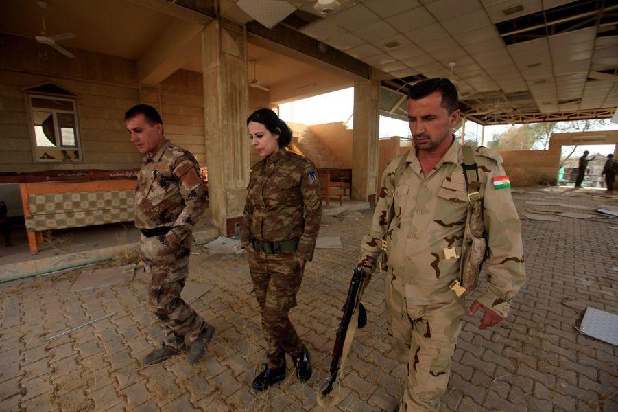 Dans Bashiqa, ville située à 12 kilomètres de Mossoul, reconquise par les peshmergas.