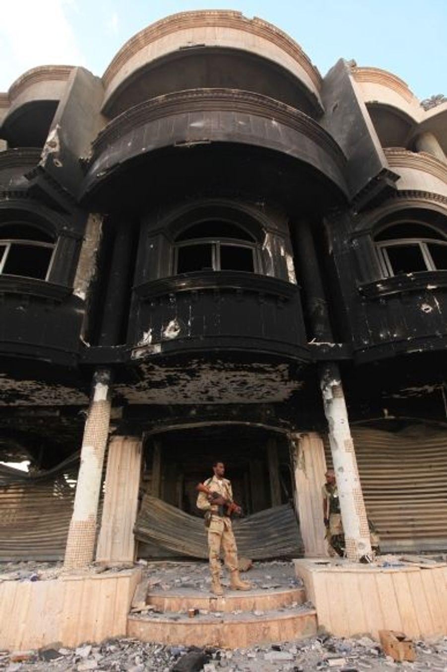 Immeuble brûlé