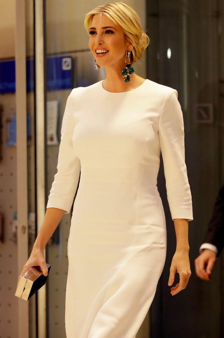 Ivanka Trump au dîner organisé par la Deutsche Bank à Berlin, le 25 avril 2017.