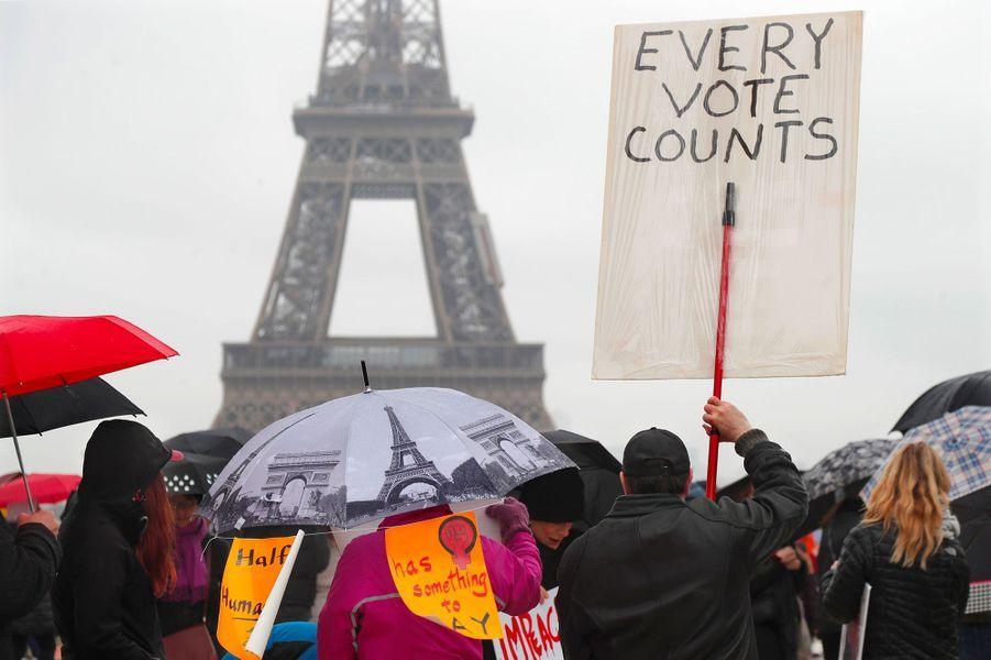 Manifestation à Paris, le 21 janvier 2018.