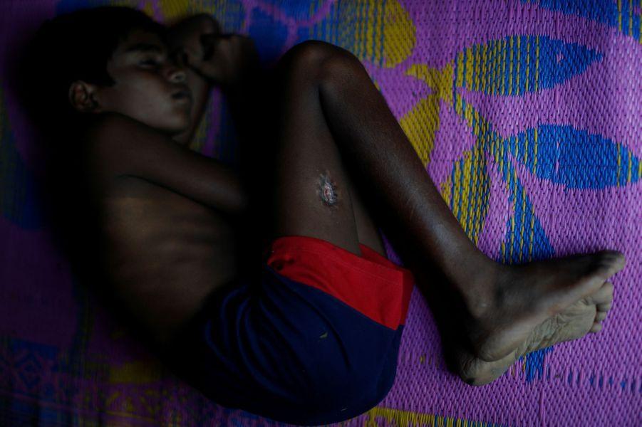 RohingyaàKutupalongau Bangladesh le 14 octobre 2017