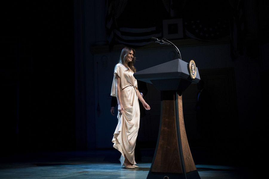 Melania Trump au gala de charité du théâtre Ford, le dimanche 4 juin 2017.